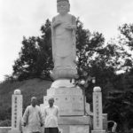 Monks working at a Buddhist temple in Chonju.  I later returned and gave the monk a copy of this picture